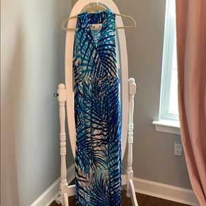 Motherhood Maternity blue maxi dress